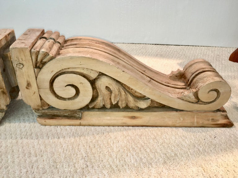 Large Pair of English Antique Corbels  For Sale 11