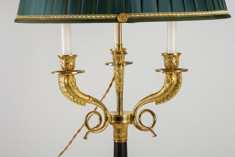 Large Pair of French Restauration Period Candelabras Converted in Table Lamps For Sale 2
