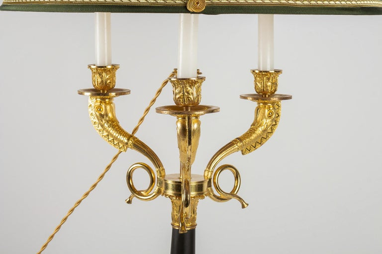 Large Pair of French Restauration Period Candelabras Converted in Table Lamps For Sale 3