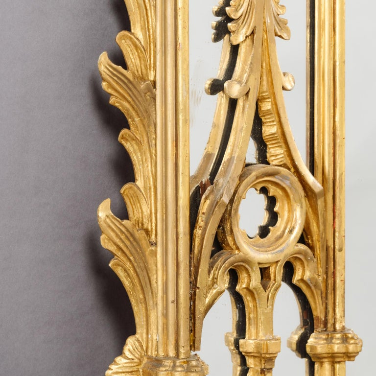 Large Pair of George II Style Carved Giltwood Mirrors or Pier Glasses In Good Condition For Sale In London, GB