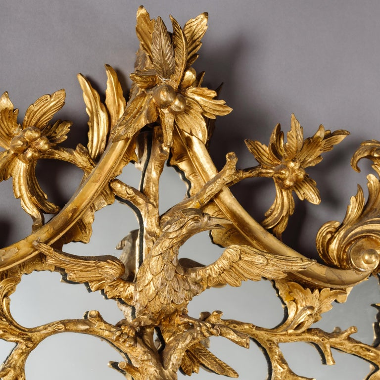 19th Century Large Pair of George II Style Carved Giltwood Mirrors or Pier Glasses For Sale