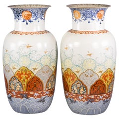 Large Pair of Japanese Imari Style Vases, circa 1880