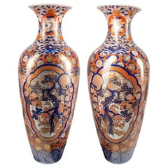 Large Pair of Japanese Imari Porcelain Vase, circa 1880