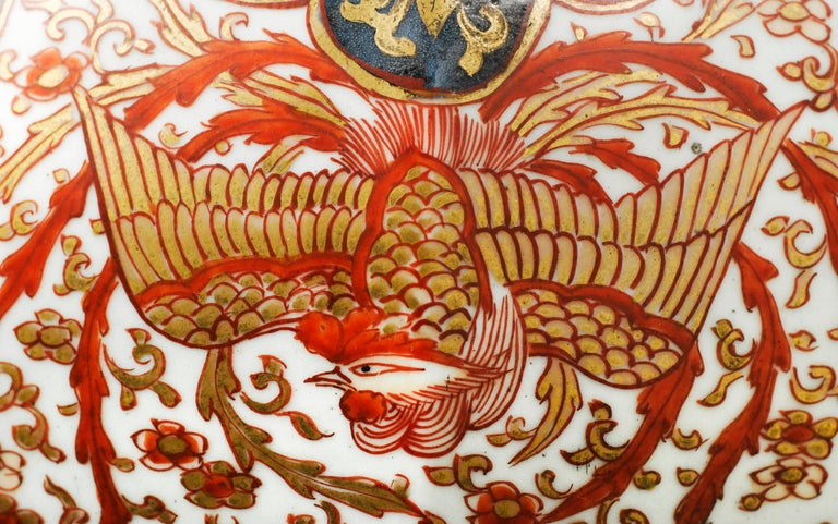 Gilt Large Pair of Late 17th Century Imari Vases with Cover For Sale