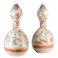 Large Pair of Late 19th Century Arita Imari Vases