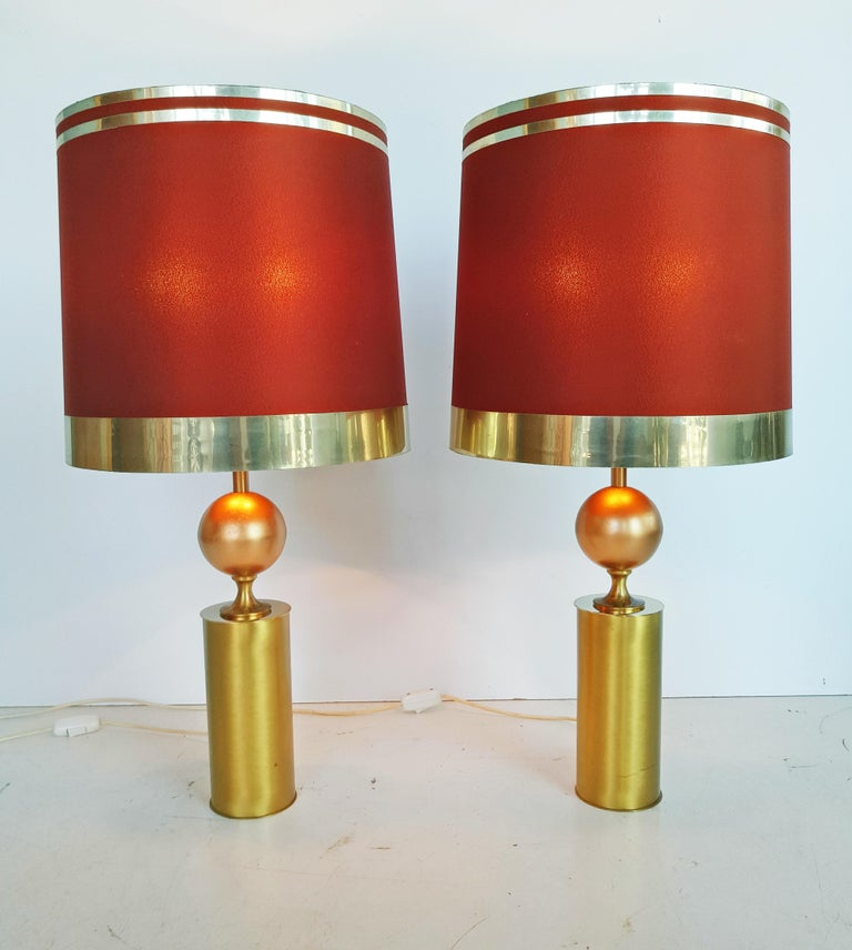 20th Century Large Pair of Lyma Table Lamps, Spain, 1970 For Sale