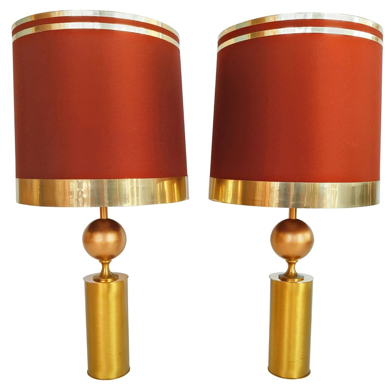 Large Pair of Lyma Table Lamps, Spain, 1970 For Sale