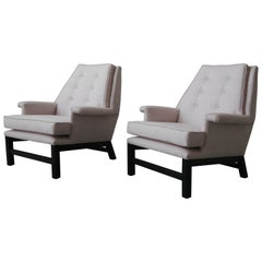 Large Pair of Mid-Century Modern Lounge Chairs