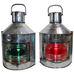 Large Pair of Port and Starboards Ships Lantern