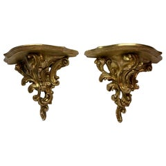 Large Pair of Rococo Style Brackets