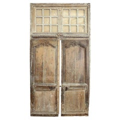 Large Pair of Transomed Louis XV Doors