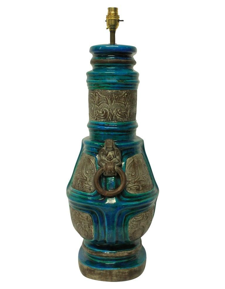 Italian Large Pair of Ugo Zaccagnini Lamps