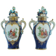 Large Pair of Vases, Derby Porcelain Works, circa 1765