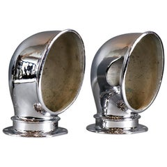 Large Pair of Ventilator Cowls Chrome