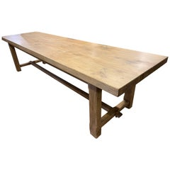 Large Pale Farmhouse Table