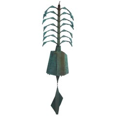 Large Paolo Soleri Ribbed Wind Chime / Bell