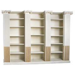 Large Parcel Gilt Neoclassical Bookcase from 19th Century Elements