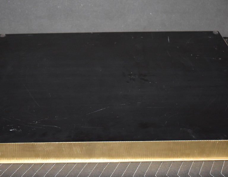 Large Parchment and Brass Tray For Sale 4