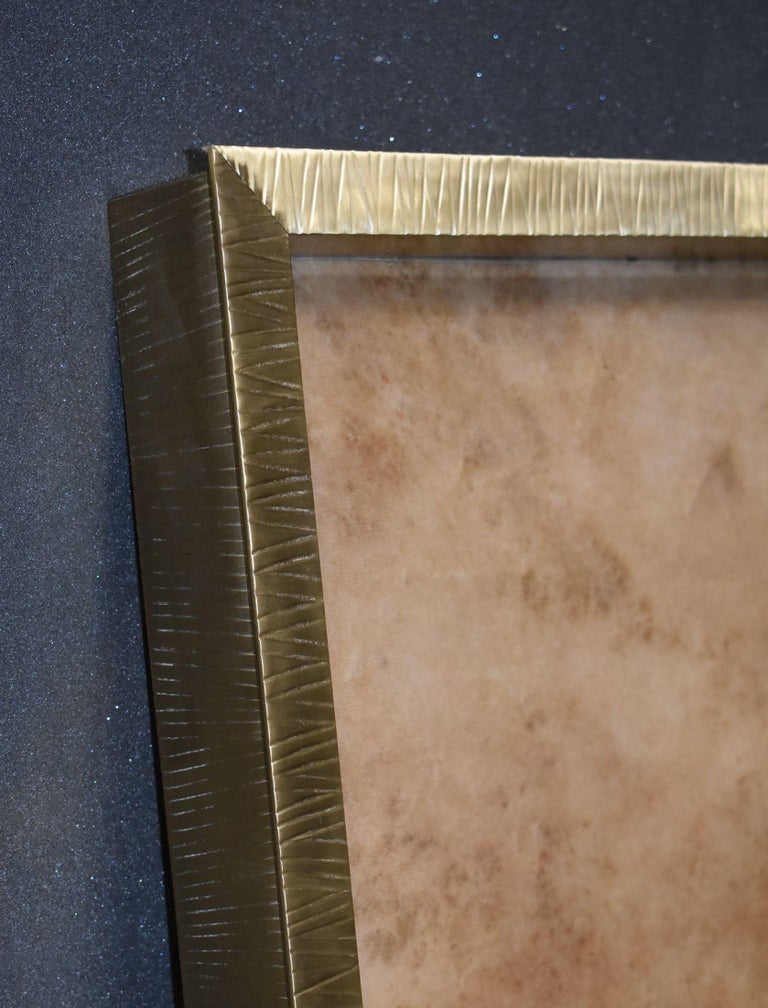 Large Parchment and Brass Tray For Sale 3