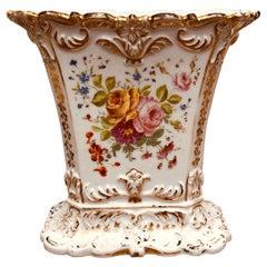 Large Paris Porcelain Rectangular Spill Vase