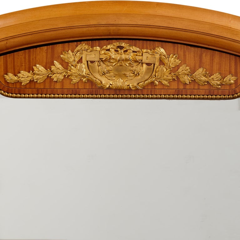 Large Parisian Wardrobe Adorned with Marquetry and Gilt Bronze In Good Condition For Sale In London, GB