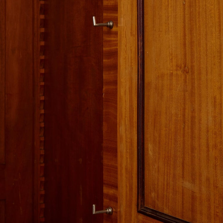 Large Parisian Wardrobe Adorned with Marquetry and Gilt Bronze For Sale 2