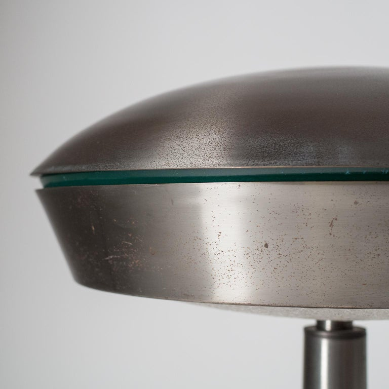 Large Patinated Brass Table Lamp, 1960s, Italy For Sale 5