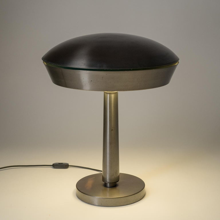 Large Patinated Brass Table Lamp, 1960s, Italy For Sale 6