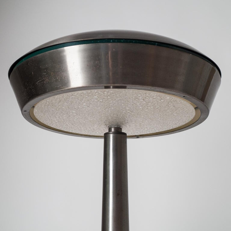 Large Patinated Brass Table Lamp, 1960s, Italy In Good Condition For Sale In Vienna, AT