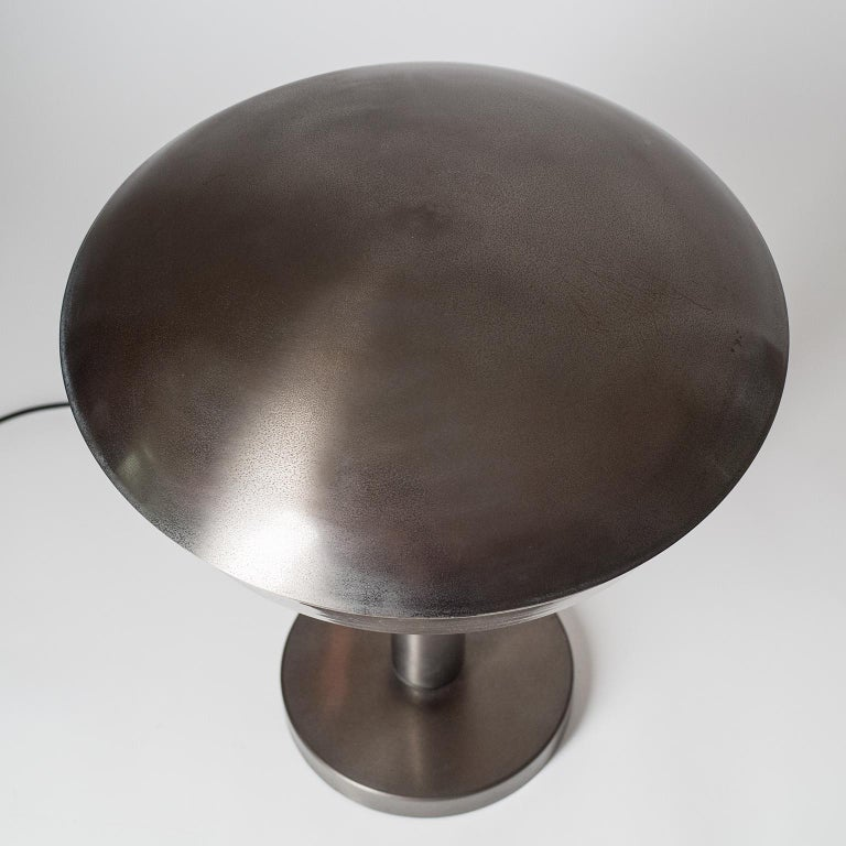 Large Patinated Brass Table Lamp, 1960s, Italy For Sale 2