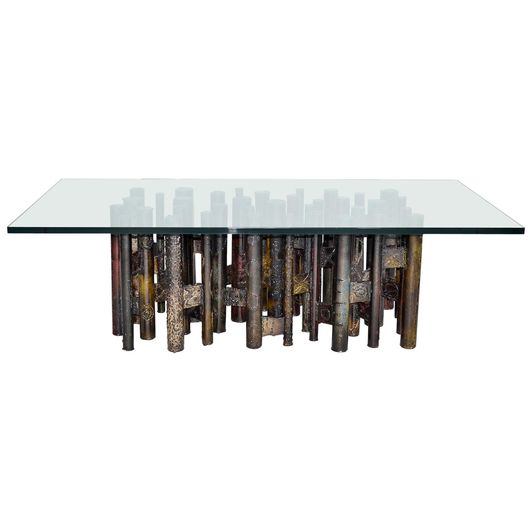 Large Paul Evans Studio Coffee Table Welded and Painted Steel, 1967