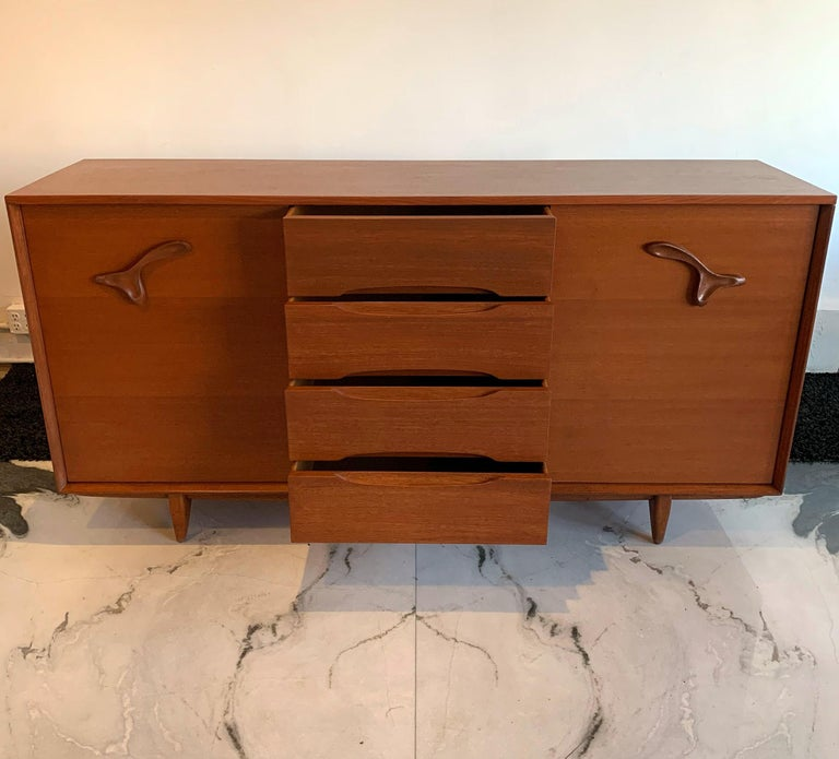 Large John Keal for Brown Saltman Treasure Chest Credenza For Sale 4