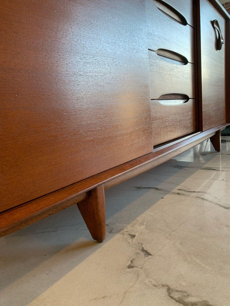Large John Keal for Brown Saltman Treasure Chest Credenza For Sale 5