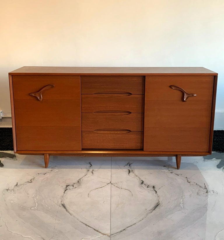 Large John Keal for Brown Saltman Treasure Chest Credenza For Sale 6