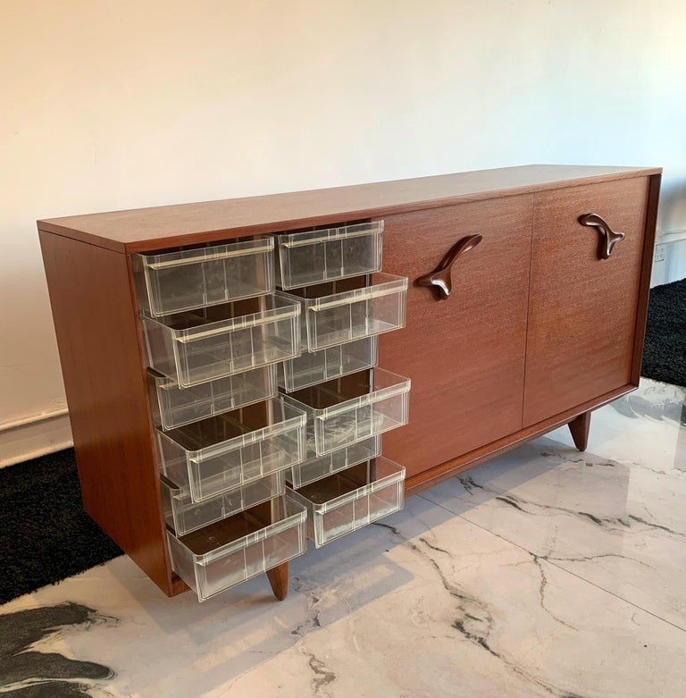 Large John Keal for Brown Saltman Treasure Chest Credenza For Sale 1