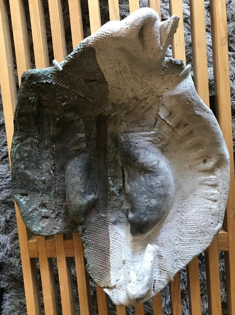 An amazing and unique piece by renowned American pottery and ceramic master Paul Soldner who in the 1950s was Peter Voulkos' first student and who later became famed for developing the technique now known as