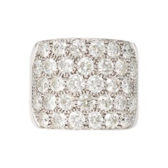Large Pavé Diamond Cocktail Band Ring in 14k