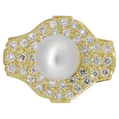 Large Pearl Freeform Ring