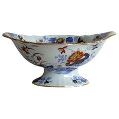Large Wedgwood Pedestal Bowl Centrepiece Stone China Ptn 1156, circa 1840