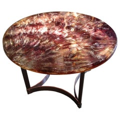 Large Pedestal Table by Gilles Charbin, France, 1973