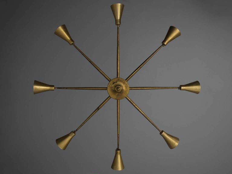 Mid-Century Modern Large Pendant Attributed to Giuseppe Ostuni For Sale