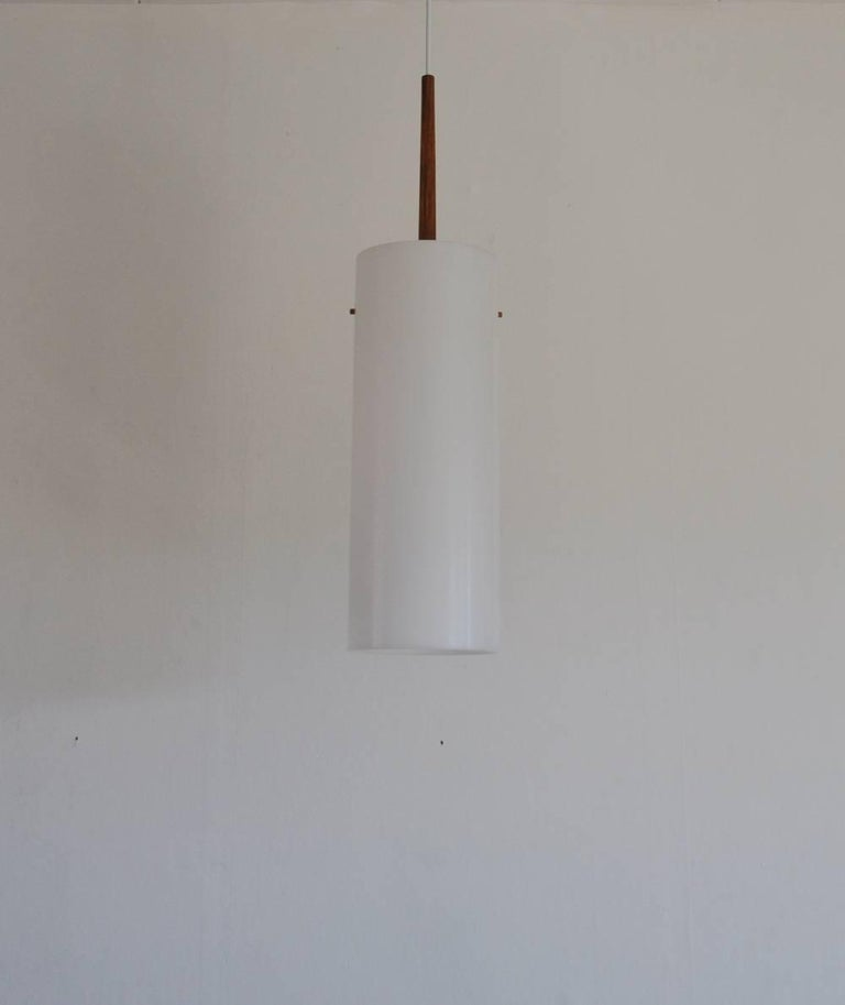 Acrylic Large Pendant Lamp by Uno & Östen Kristiansson for Luxus 1950s-1960s, Sweden For Sale