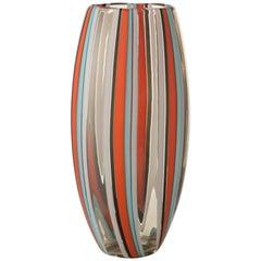 Large Perles 5 Vase in Hand Blown by Salviati