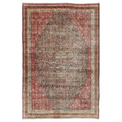 Colorful Large Persian Antique Qashqai rug with beautiful tribal motif design