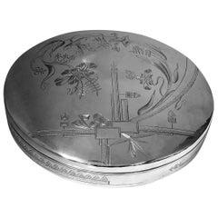 Large Persian Silver Box Tehran, circa 1920