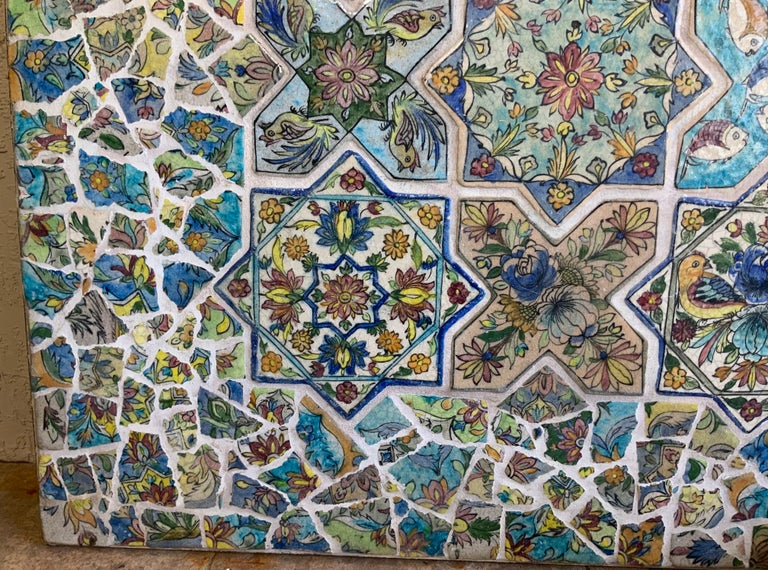 Large Persian Tile Wall Hanging For Sale 4
