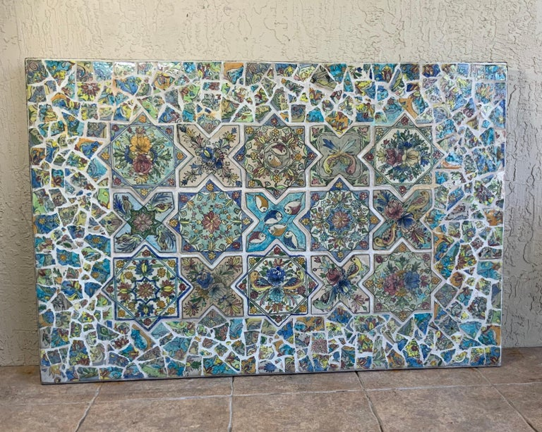 Large Persian Tile Wall Hanging For Sale 10