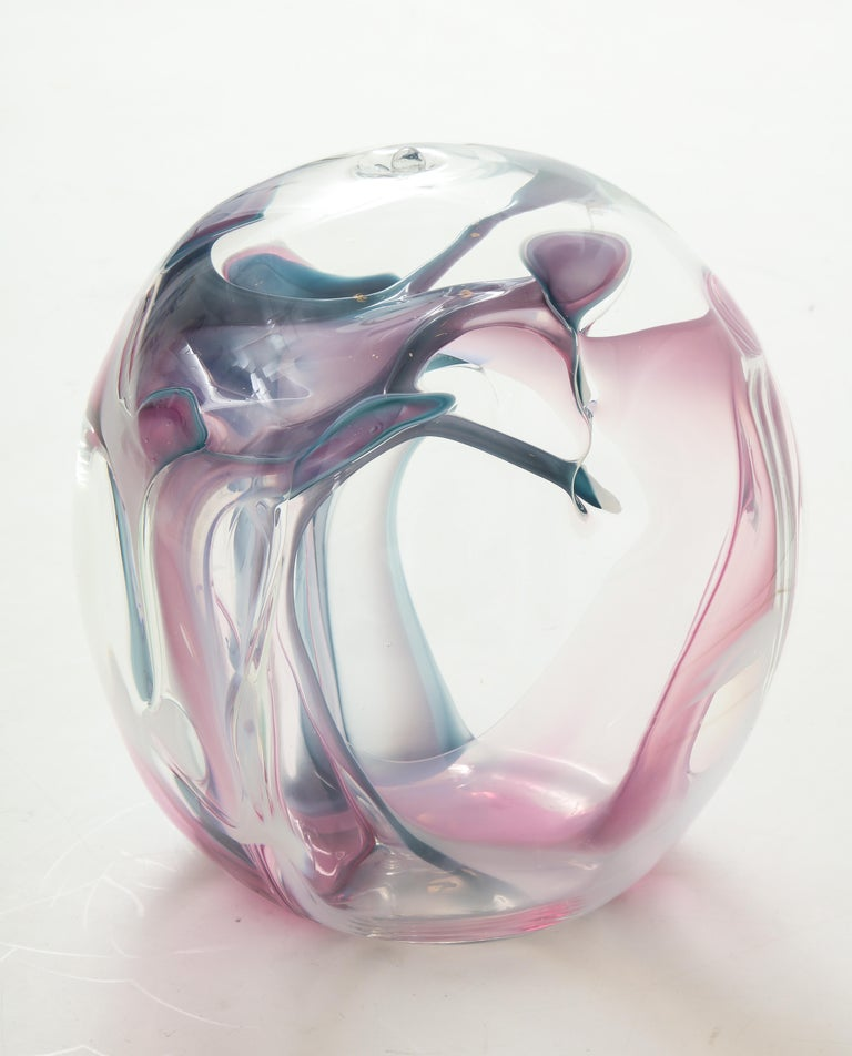 Large Peter Bramhall Glass Sculpture In Good Condition For Sale In New York, NY