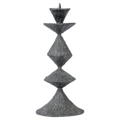 Large Pewter Candlestick, France, 1960's