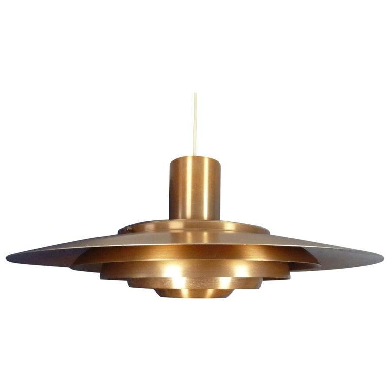 Large P.Fabricius & J.Kastholm Mod. P700 Pendant in Copper for Nordisk Solar For Sale